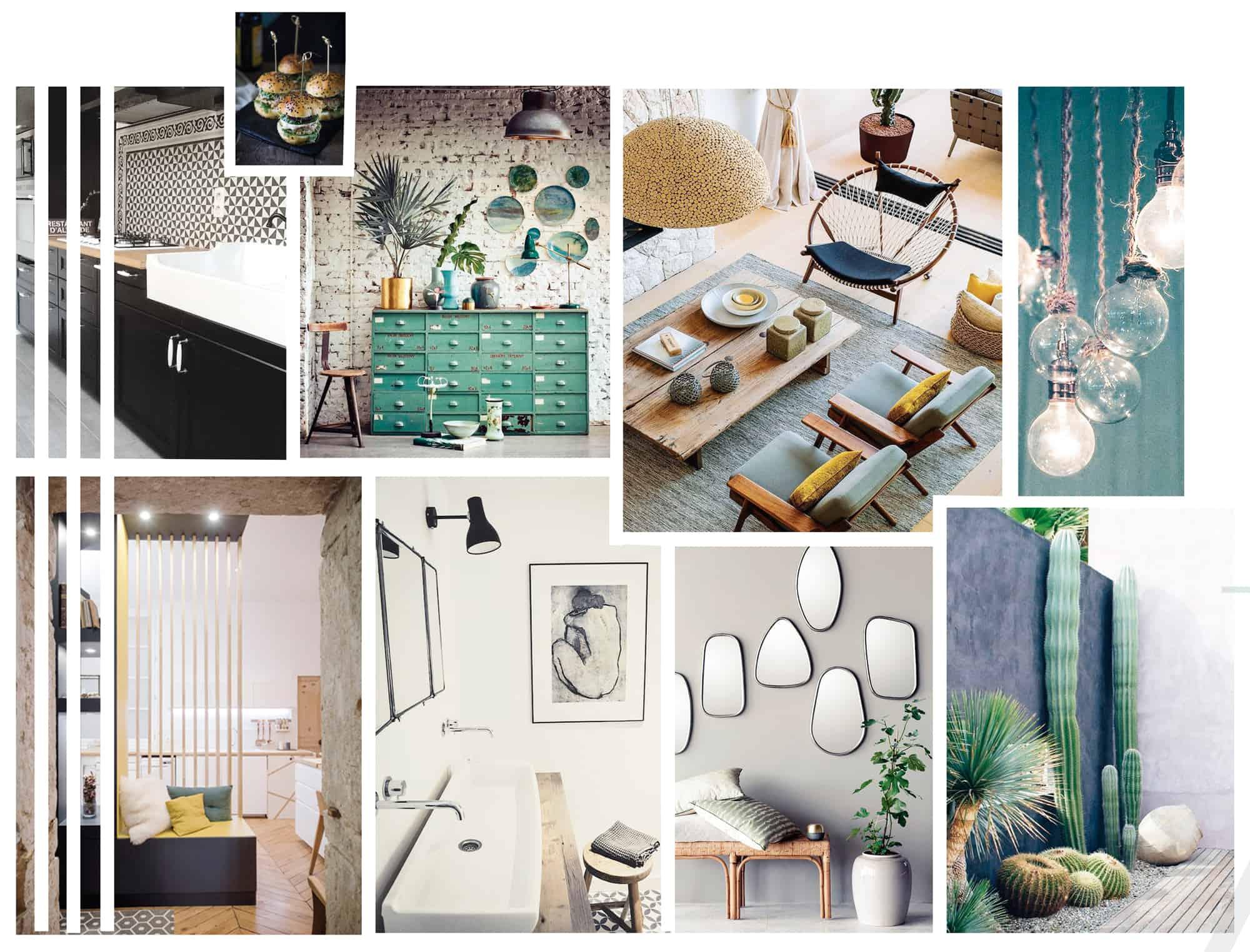 Decoration Interieur Appartement Vintage les planches tendances, matériaux, couleurs - picture design