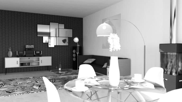 Décoration intérieure, aménagement d'espace professionnel, design d'espace, modélisation 3D