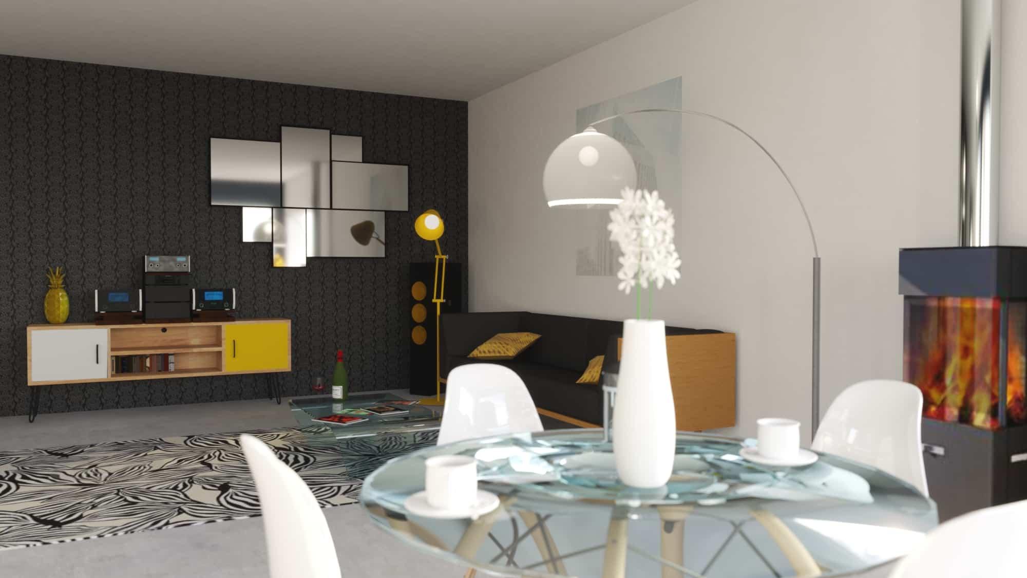picture design d'espace - creation et rendu 3D