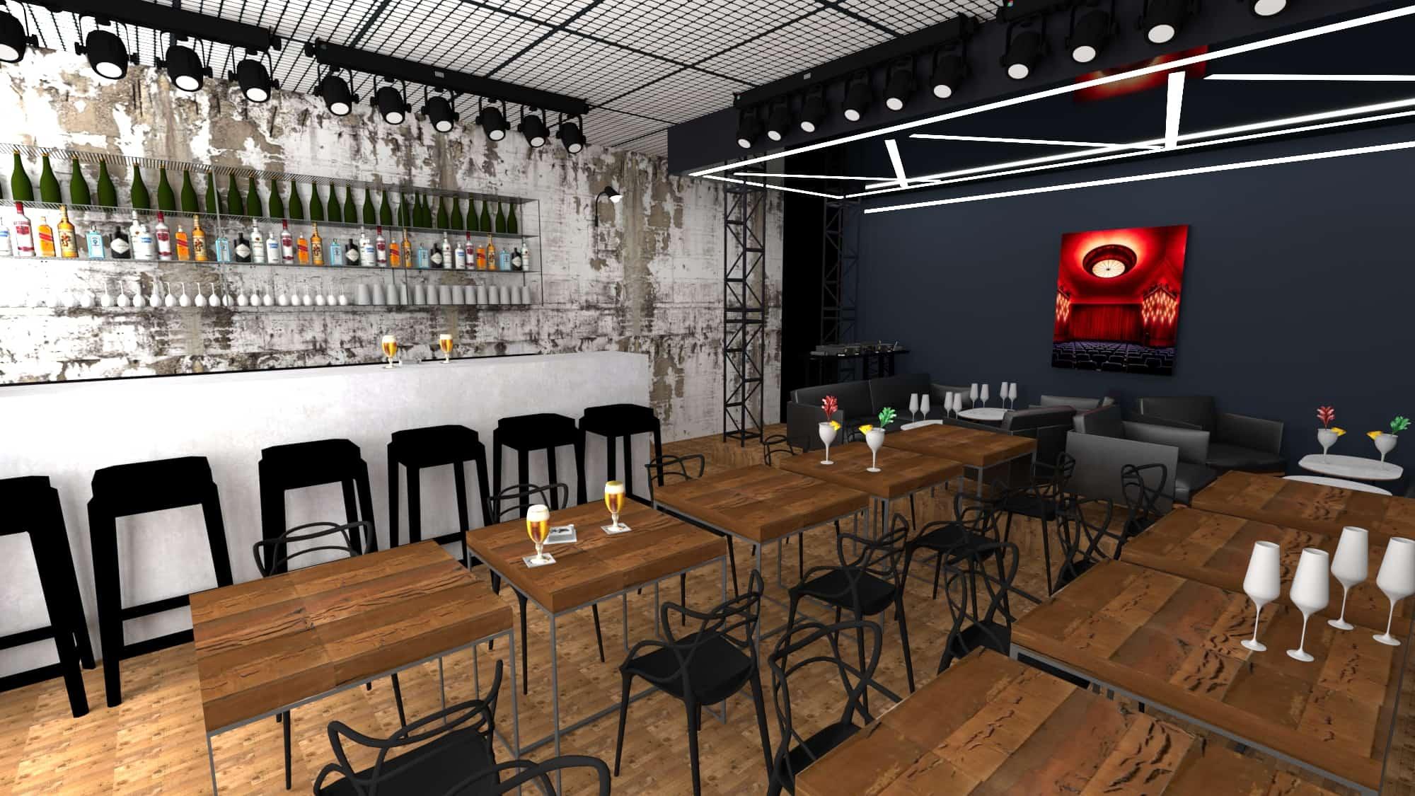 Rendu 3D bar croix rousse - picture design