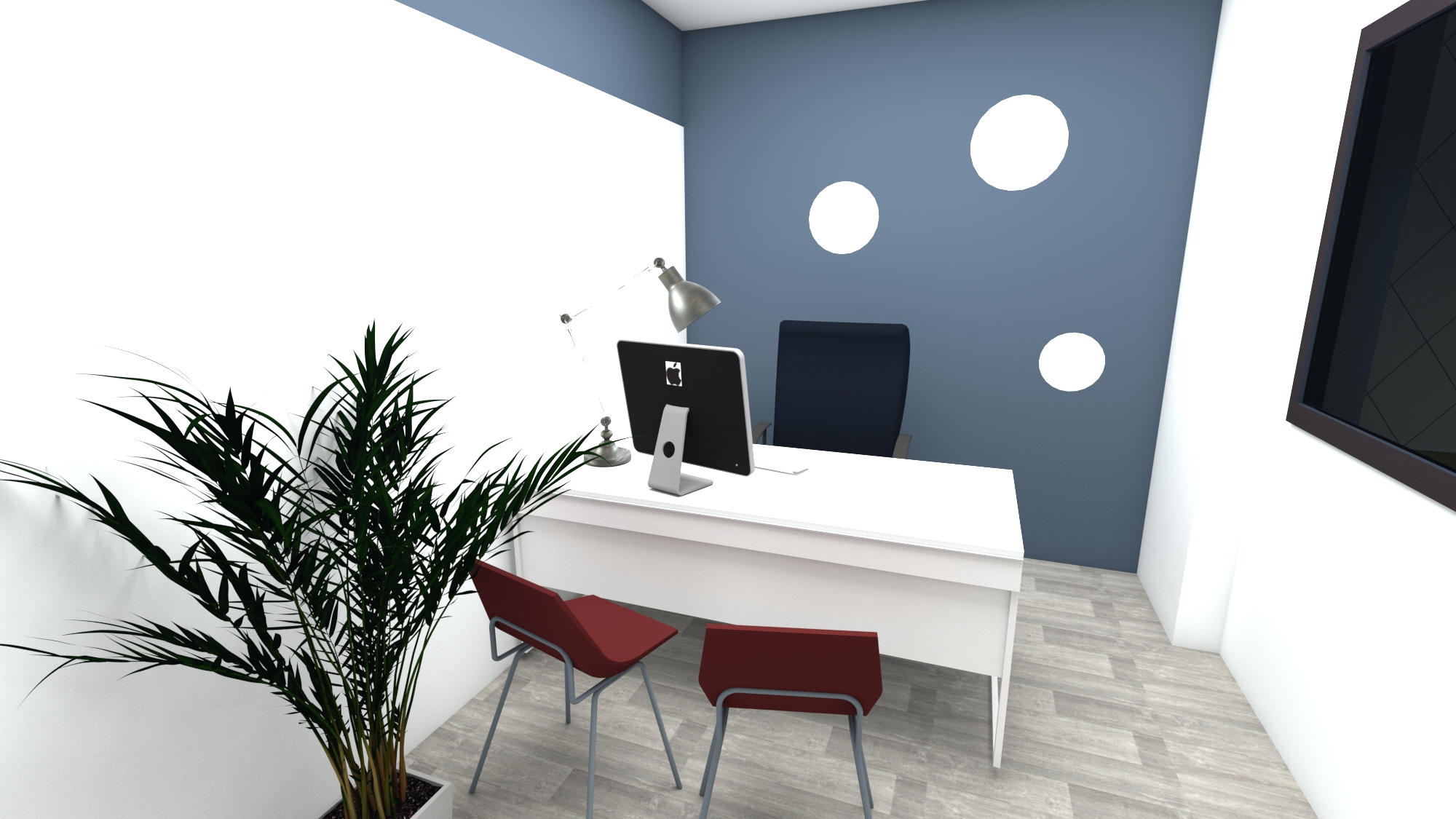 Couleur Peinture Pour Bureau Professionnel décoration bureaux d'une agence d'assurance - picture design