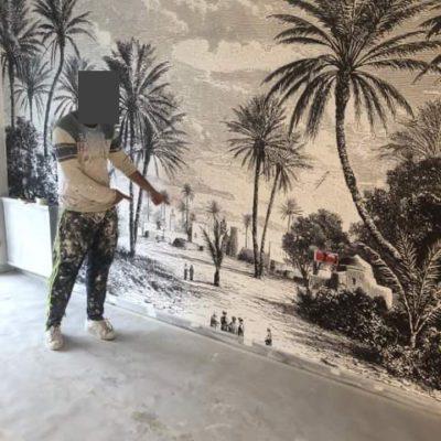 Le papier peint Oasis de la chambre